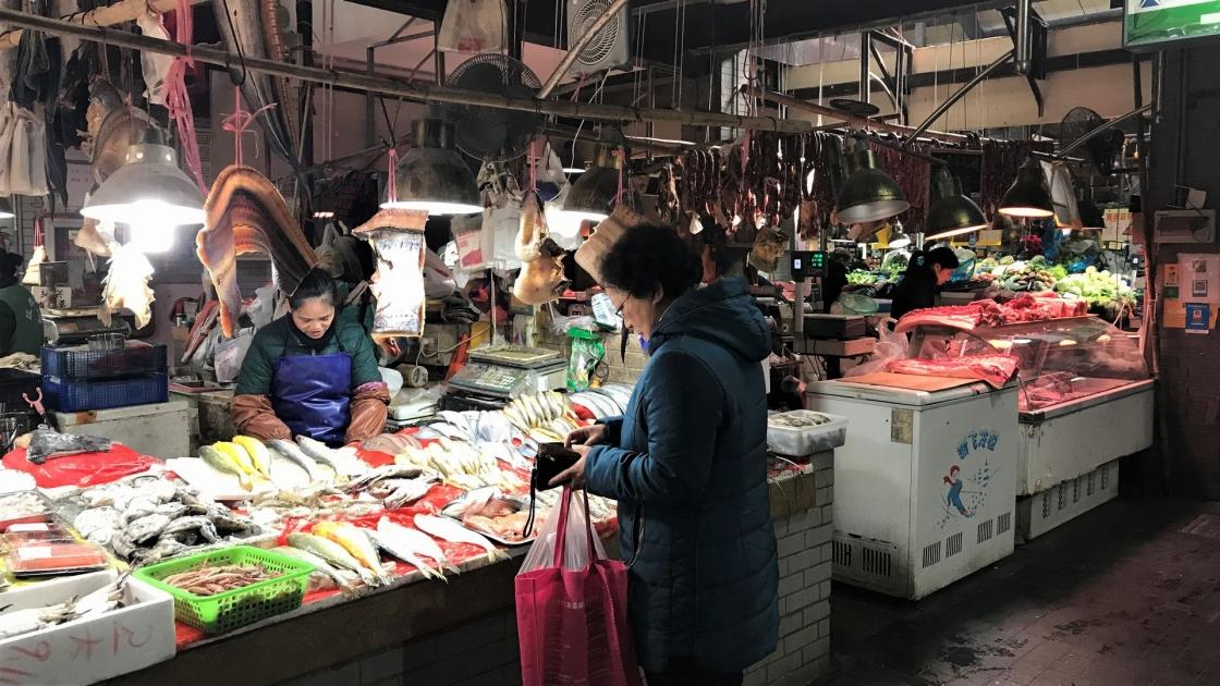 田子坊の横にある市場