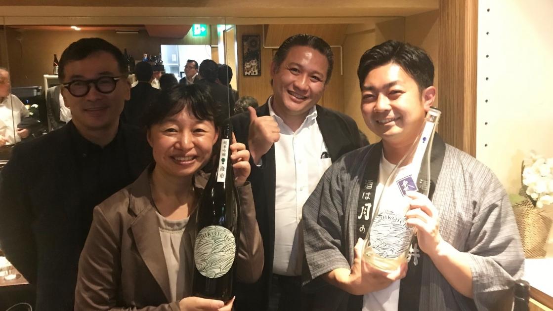 今西さん、坂本専務、早野さんと4人で記念撮影