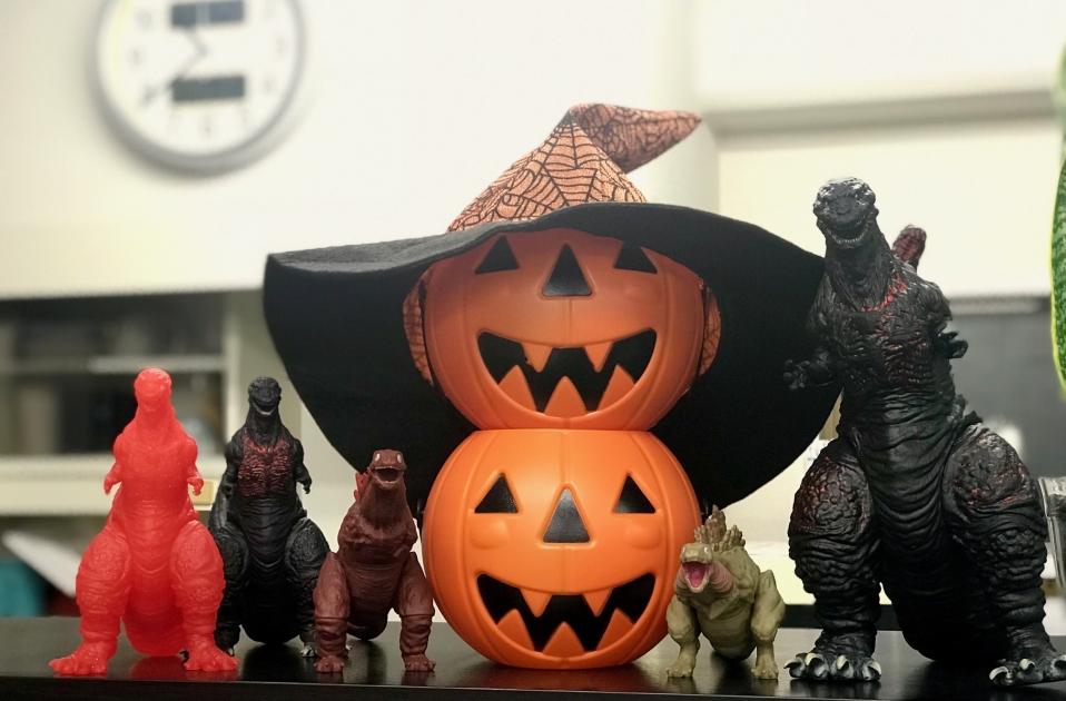 ハロウィンかぼちゃとシン・ゴジラ
