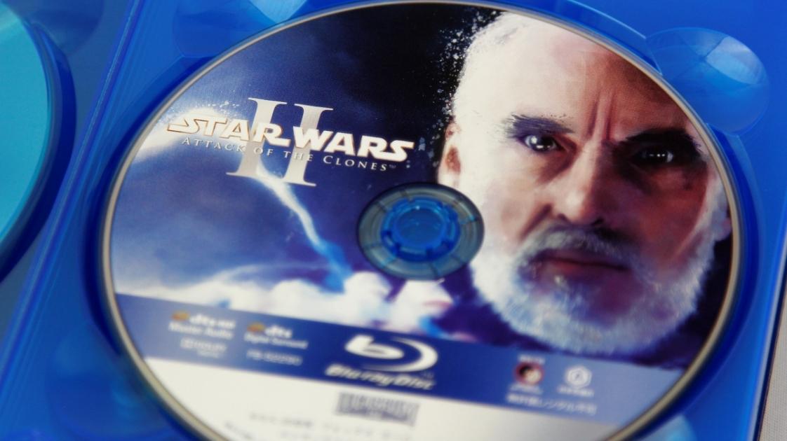 『スター・ウォーズ エピソード2/クローンの攻撃』Blu-rayディスク盤面