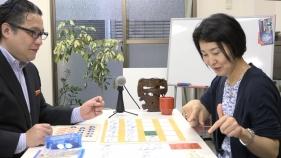 石津さんとカードゲームのテストプレイ中