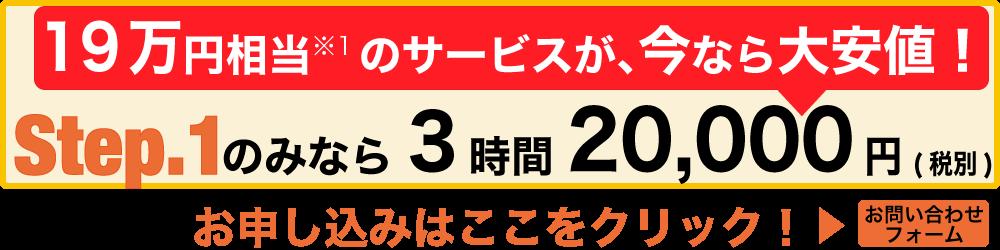 19万円相当のコンサルサービスが今ならわずか2万円