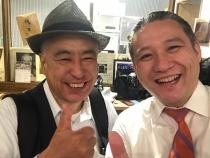 わざわざ静岡から応援に来てくれた好本さんとの2ショット